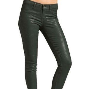 Textured coated leggings